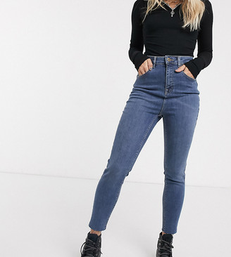Collusion Petite x001 high-waisted skinny in blue