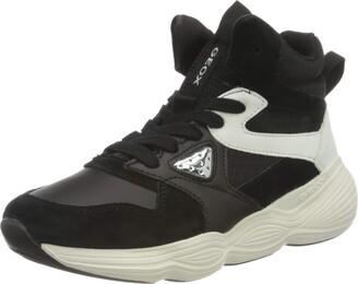 Geox Girls J BUBBLEX Sneaker (Black/White) 1 UK