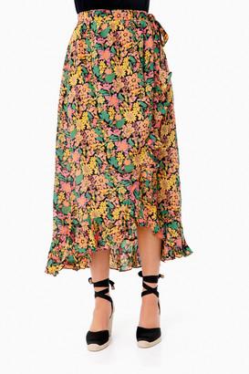 Banjanan Anna's Wild Garden Silk Wrap Skirt