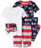 Carter's Boys 4-8 Fire Truck 4-Piece Pajama Set