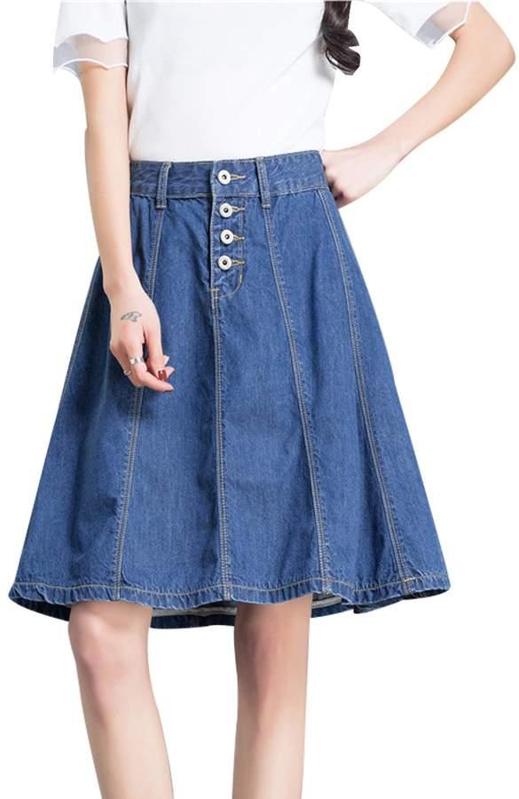 6c6da57dd6 Blue Skirt Elastic Waist - ShopStyle Canada