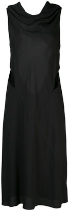 Rick Owens Cowl Neck Cut Out Detail Dress