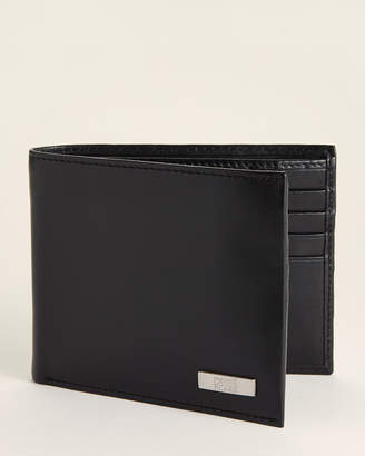 Class Roberto Cavalli Smooth Black Leather Bifold Wallet