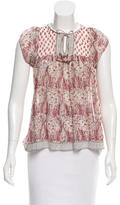 Ulla Johnson Paisley Printed Silk Top