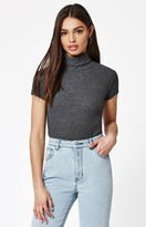 John Galt Ribbed Turtleneck Top
