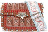 Valentino The Rockstud Rolling Embellished Textured-leather Shoulder Bag - Brown