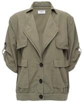 Frame Oversized Jacket in Olive