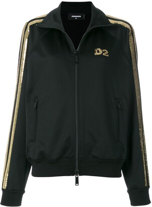 DSQUARED2 Sequin Logo Track Top
