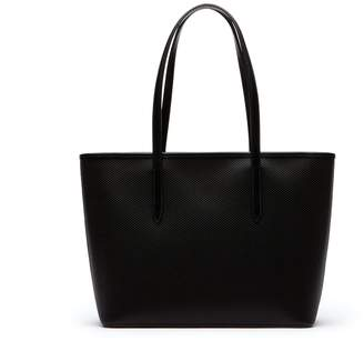 Lacoste Women's Chantaco Zippered Pique Leather Tote Bag