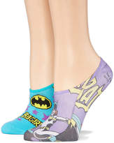 Asstd National Brand 2 Pair Liner Socks - Batgirl Multi