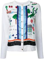 Muveil printed cardigan - women - Cotton/Polyester/Wool - 40