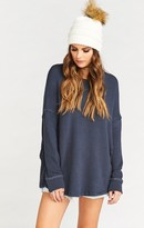 MUMU Bosco Ski Top ~ Snuggle Up French Terry Coastal