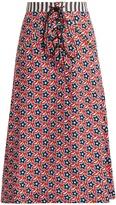 House of Holland Star-print A-line midi skirt