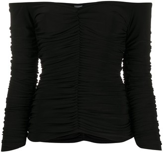 Norma Kamali Off-Shoulder Fitted Top
