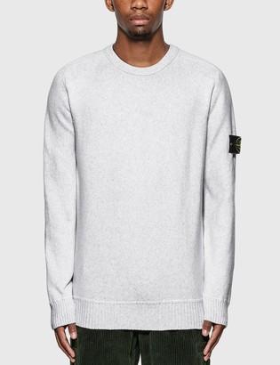 Stone Island Cotton Blend Compass Patch Logo Sweater