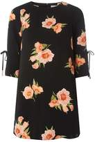 Dorothy Perkins Petite Black Floral Shift Dress