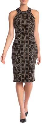BCBGMAXAZRIA City Halter Print Sleeveless Dress