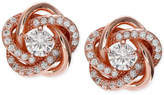 Giani Bernini Cubic Zirconia Love Knot Stud Earrings in 18k Rose Gold-Plated Sterling Silver, Only at Macy's