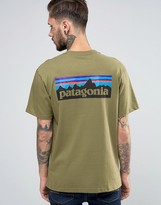 Patagonia T-shirt With P6 Logo In Regular Fit Green