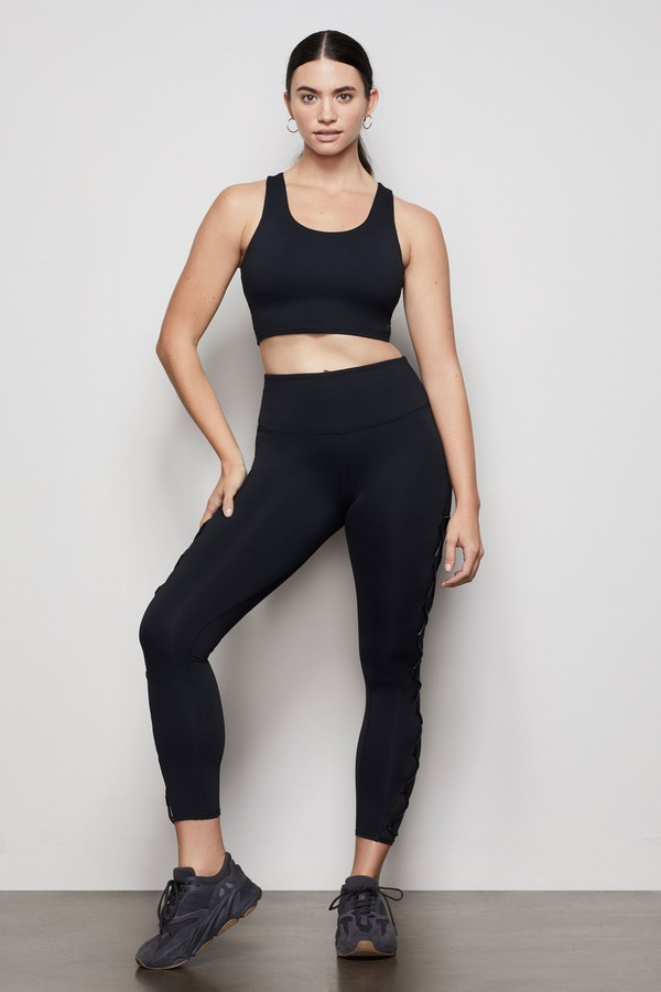 Thumbnail for your product : Good American The Criss Cross Legging   Black001