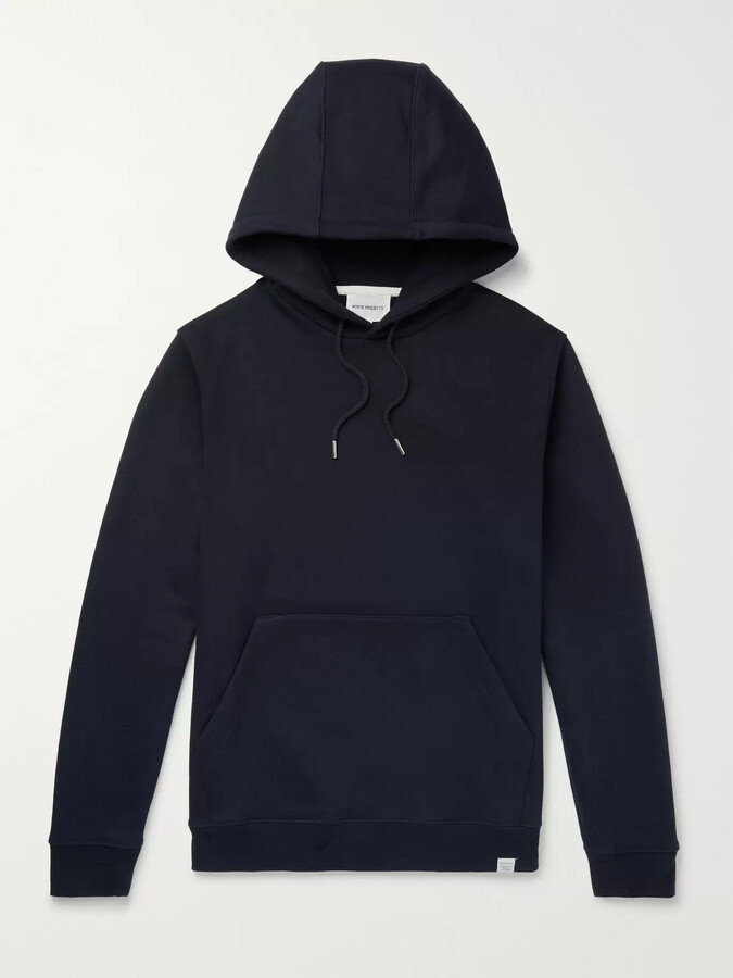 Norse Projects Vagn Loopback Cotton-Jersey Hoodie - Men - Blue