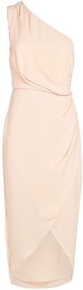 Significant Other Agnes One-Shoulder Crepe Midi Dress