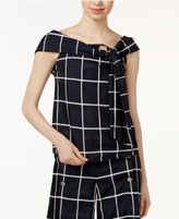 J.o.a. Plaid Off-The-Shoulder Top