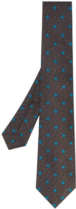 Kiton Dotted Pointed Tie