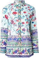 Etro floral print shirt - women - Cotton/Spandex/Elastane - 40