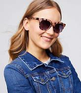 LOFT Modern Tortoiseshell Print Square Sunglasses