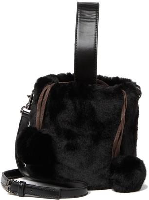 Pink Haley Natasha Faux Fur Bucket Bag