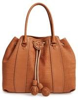 Tory Burch Amalfi Woven Leather Tote - Brown