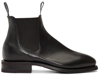R.M. Williams Black Yearling Comfort Craftsman Chelsea Boots