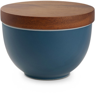 Nambe Prism Candle Bowl with Lid, Aurora Blue