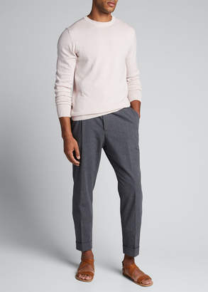 Officine Generale Men's Solid Cotton Crewneck Sweater