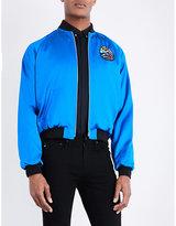 Saint Laurent Shark-print Silk Bomber Jacket