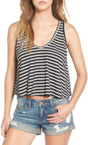 Lush Stripe Rib Knit Swing Tank