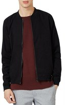 Topman Men's Cotton Bomber Jacket