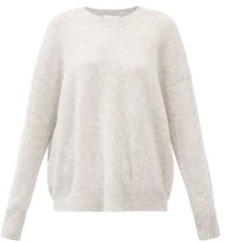 Allude Oversized Round-neck Cashmere Sweater - Light Grey