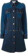 See by Chloe panelled denim dress - women - Cotton/Spandex/Elastane - 40