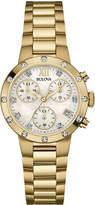 Bulova 30mm Diamond Chronograph Bracelet Watch, Yellow Golden