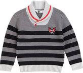 Petit Lem Gray & Black Stripe Sweater - Toddler & Boys