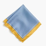 J.Crew Silk pocket square in blue houndstooth
