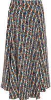 Vanessa Bruno Humeyra Floral-print Cloqué Midi Skirt