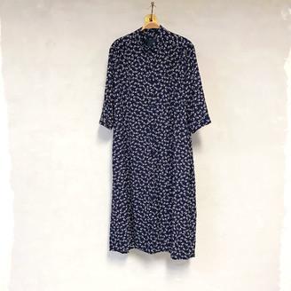 Liebling Malmo - Svala Blue Rose Viscose Shirt Dress - XS