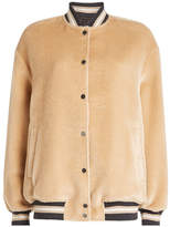 Brunello Cucinelli Alpaca Wool Bomber Jacket