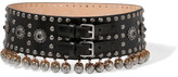 Alexander McQueen Embellished Leather Waist Belt - Black