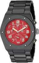 Swiss Legend Men's 10028-BKRSA Throttle Chronograph Red Dial Black Ceramic Watch