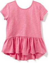 Old Navy Slub-Knit Peplum Top for Toddler Girls