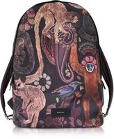 Paul Smith Black Canvas Monkey Print Backpack